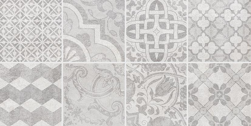 Bastion Декор с пропилами мозаика серый 08-03-06-453